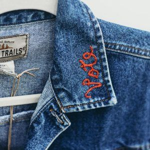 Vintage Jean Jacket Embroidered | 15% Donated